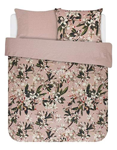 ESSENZA Duvet Cover Set 140 x 200/220 cm + 1 Pillowcase 60 x 70 cm Lily Pink – Duvet Cover Collection Finished with a Double Flap.