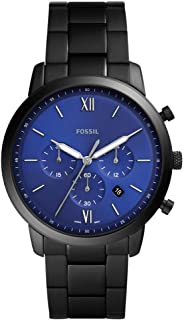 Fossil Men's Neutra Chronograph Black Stainless Steel Watch FS5698