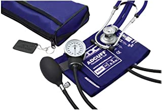 ADC Pro's Combo II SR Adult Pocket Aneroid/Scope Kit with Prosphyg 768 Blood Pressure Sphygmomanometer and Adscope 641 Sprague Stethoscope with Nylon Carrying Case, Royal Blue