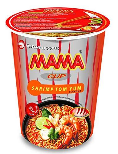 MAMA Noodles SHRIMP TOM YUM Instant Cup of Noodles w/ Delicious Thai Flavors, Hot & Spicy Noodles With Shrimp Tom Yum Soup Base, No Trans Fat w/ Fewer Calories Than Deep Fried Noodles 6 Pack