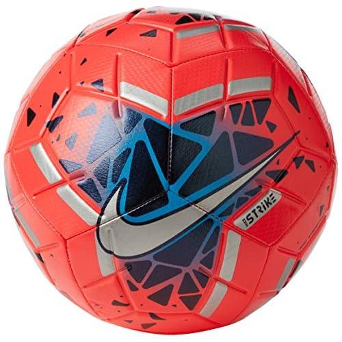 Nike Strike, Pallone da Calcio Unisex Adulto, Laser Crimson/Black/Metallic Silver, 4
