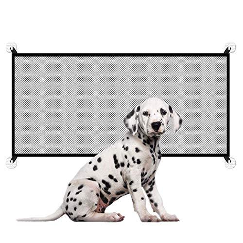 jillbang Tragbar Hunde Türschutzgitter, Auflage Türschutzgitter Ohne Bohren, Faltbar Hundegitter,Treppenschutzgitter für Haustier Hunde Katzen,Magic Gate,Hundeschutzgitter Absperrgitter-180cm*72cm