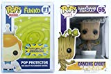 Funko Pop Guardians Of The Galaxy-Dancing Groot Bobble + FUNKO PROTECTIVE CASE...
