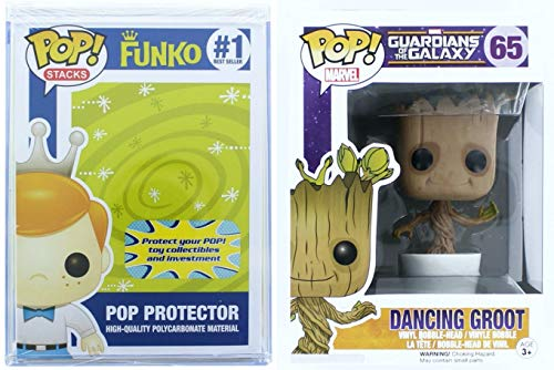 Funko Pop Guardians Of The Galaxy-Dancing Groot Bobble + FUNKO PROTECTIVE CASE