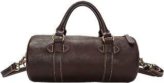 Mens Bag Vintage Leather Briefcase Crossbody Day Bag for School and Work Men's Large Messenger Shoulder Bag High capacity