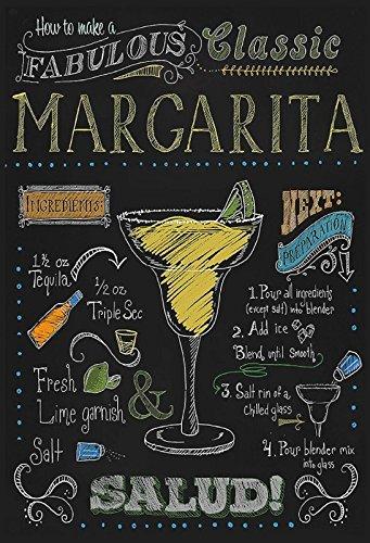 Schatzmix Cocktails Rezepte Recipe Margarita Tequila Triple Sec Alkohol schwarz Hintergrund Metal Sign deko Sign Garten Blech