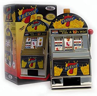 Trademark Burning 7's Slot Machine Bank with Spinning Reels