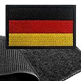 Patch Deutschland Flagge Klett - Deutsche Klettabzeichen, Flaggen Emblem Aufnäher mit Klettverschluss, Airsoft Aufkleber Klettbänder für Rucksäcke Custom Geschenke (8x5 cm)