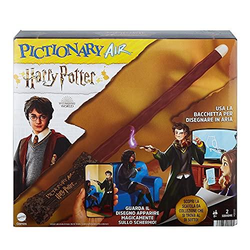 Mattel Games- Pictionary Air Versione Harry Potter con Bacchetta, Gioco per Disegnare in Aria, Gioco per Famiglie8+Anni, HDC63