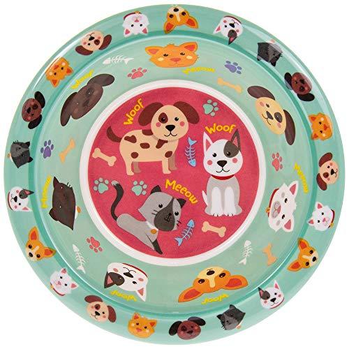 Lesser & Pavey LP44394A - Cuenco para gatos y perros, melamina