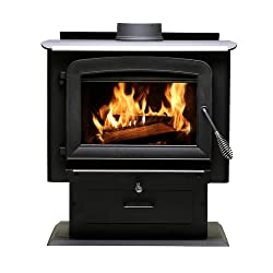 Ashley Hearth AW2020E-P 2,000 Sq. Ft. Pedestal Wood Burning Stove