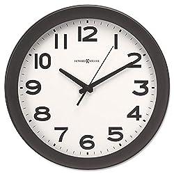 Howard Miller 625485 Kenwick Wall Clock, 13-1/2-Inch, Black