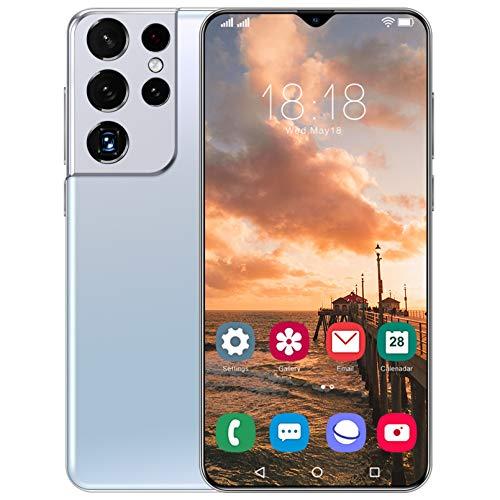 Oferta De Teléfono Inteligente 5G del Día, Android 11.0 4GB RAM + 64GB ROM / 128GB Teléfono Móvil Expandible, Pantalla De Gota De Agua De 6.7'Cámara Dual De 32MP, GPS, Teléfono Móvil con Desbloqueo