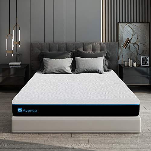 Queen Memory Foam Mattress, Avenco 10 Inch Queen Size Mattress in a Box, Premium Bed Mattress Queen with CertiPUR-USCertified Foam for Supportive, PressureRelief & Cooler Sleeping,10YearsWarranty