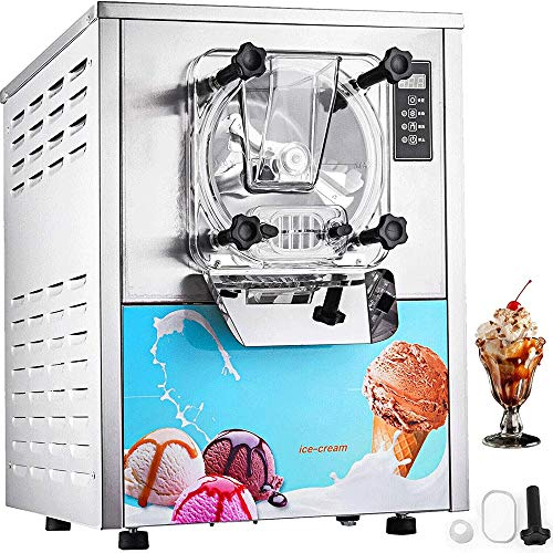 Big Shark Eismaschine Maschine for Soft Serve, Frozen Yogurt, Vanillesoße □ LCD-Display □ for Restaurants, Snack-Bars, Cafes, Bäckereien 16-20L / H Professionelle Eiscreme-Hersteller Edelstahl-EIS