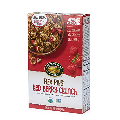 Nature's Path Flax Plus Red Berry Crunch Cereal, Healthy, Organic, 10.6 Ounce Box (Pack of 6)