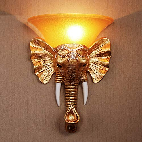 WarmHome Europea Pasillo de la lámpara de Pared Mascota del Elefante escaleras Proyecto hotelero lámpara de Pared KTV Bar Retro Personalidad Creativa