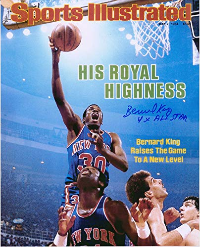 Bernard King New York Knicks Autographed 16' x 20' Sports Illustrated Cover Photograph with '4x All-Star' Inscription - Autographed NBA Magazines