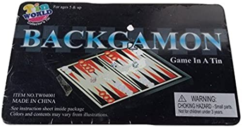 Backgammon Game in a Tin (Travel Größe) by Tin World