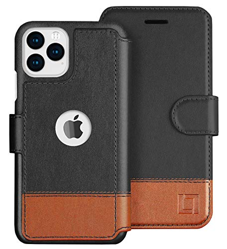LUPA iPhone 11 Pro Wallet Case -Slim iPhone 11 Pro Flip Case with Credit Card Holder, iPhone 11 Pro Wallet Case for Women & Men, Faux Leather i Phone 11 Pro Purse Cases, Smoky Cedar
