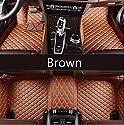 Youthus Auto Fußmatten für Hummer H1 H2 H3 H5 H6 H8 H9 M1 M2 M4 Fussmatten Auto Zubehör Pu-Leder Allwetter rutschfest Wasserdicht Braun