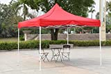 BRUSHFINCH Gazebo Tent 10x10 ft Outdoor, Advertising Personal Canopy Tent, Foldable Tent, Water Resistance Party Instant Shelter All Weather Family Camping & Hiking.
