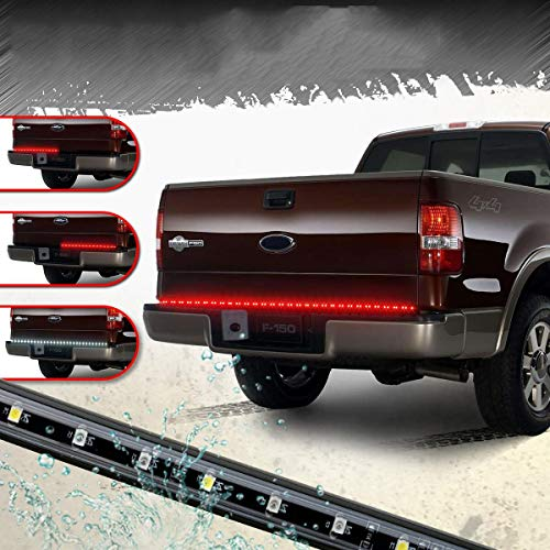 "Partsam 60"" 90LED Tailgate Light Bar Red White Backup Reverse LED Strip Turn Signal Brake Stop Indicator Tail Light Replacement for most Cars, Trucks, SUV, RV, VAN, Trailers"