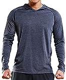 Rdruko Men's Hoodies Pullover Long Sleeve Casual Lightweight Hooded Sweatshirts(Grey, US M)