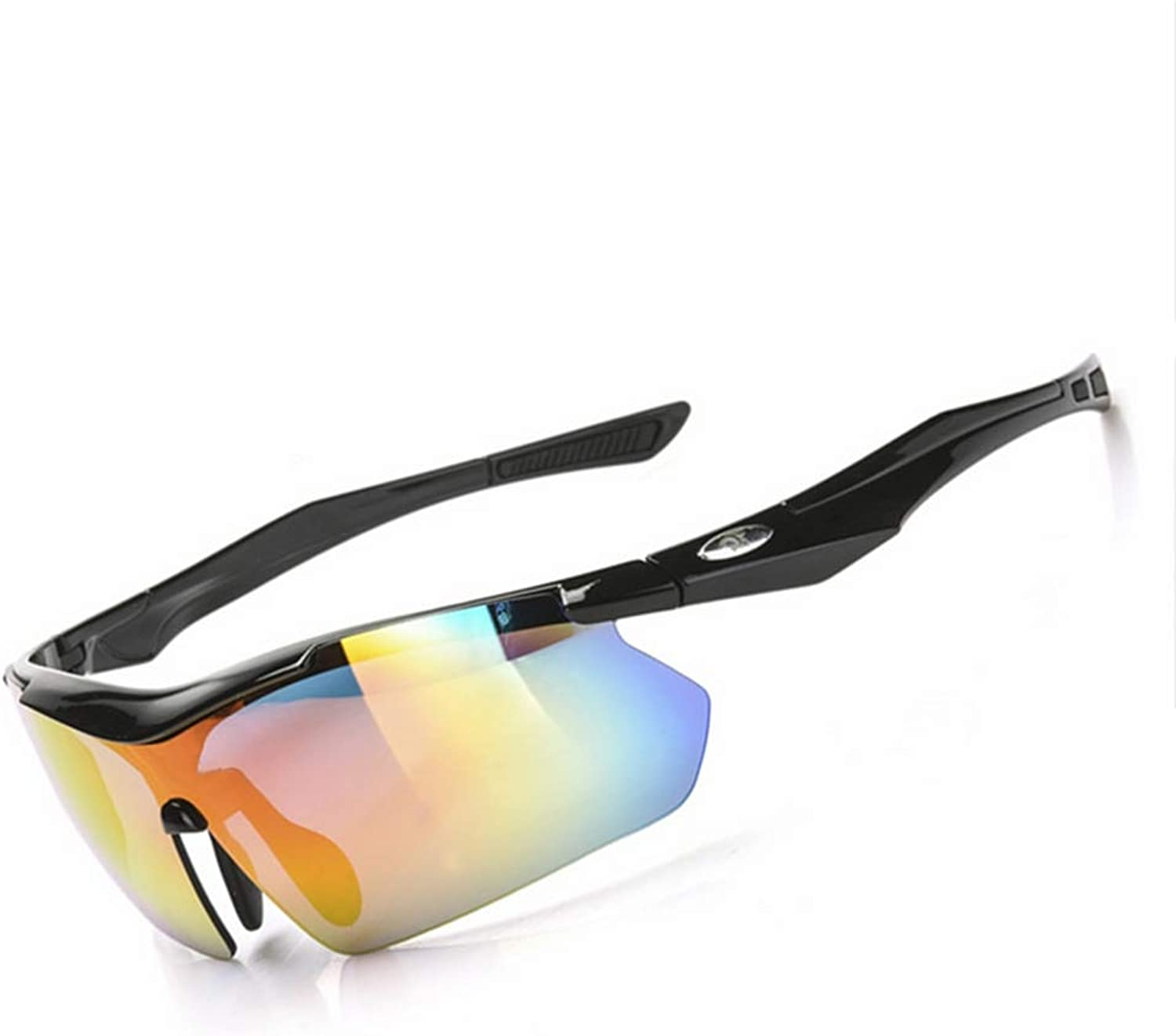 colorChanging Glasses Riding Men and Women Models Bicycle Outdoor Sports WindProof Glasses Discoloration,Black