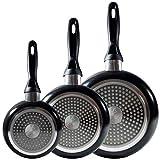 Batería de cocina SIP 5 piezas (cazo + dos ollas con tapa de vidrio) con Set de 3 sartenes Ø16/20/24 cms., inducción - 9