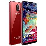 Moviles Libres 4G 5.5', Note 7p Android 9 Smartphone Libre Dual SIM 3GB RAM + 32GB ROM /128GB Memoria Expandida Telefono movil Libres, Face ID, Móviles y Smartphone Libres (Rojo)