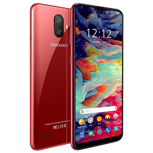 Smartphone Offerta Del Giorno DUODUOGO Note7P 5.5 , Telefoni cellulari in offerta 4G Android 9.0 3GBRAM + 32GB ROM 128GB Espandibili Cellulare, Quad Core, Due SIM, Economici Telefoni Mobile (rosso)