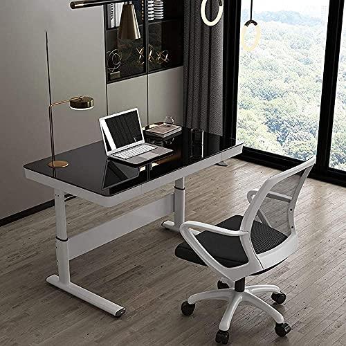 Escritorio de escritorio de altura ajustable con cajón de escritura, mesa moderna y simple para el hogar, oficina, ajuste mecánico C 100 cm - 120 cm
