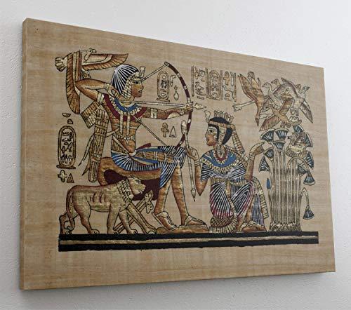 Antik Ägypten Papyrus Leinwand Canvas Bild Wandbild Kunstdruck L2085 Größe 150 cm x 100 cm