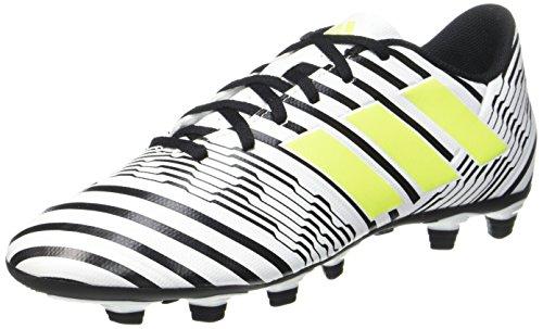 adidas Nemeziz 17.4 FxG, Zapatillas de Fútbol Hombre, Multicolor (FTWR White/Solar Yellow/Core Black), 44 EU