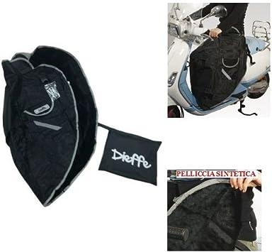 Compatible con Kymco Agility 50 RS Naked - Cubrepiernas para Scooter - 100% Impermeable - Manta térmica para Llevar - Dieffe P01 - Funda para piernas - Funda Interior con Pelo sintético