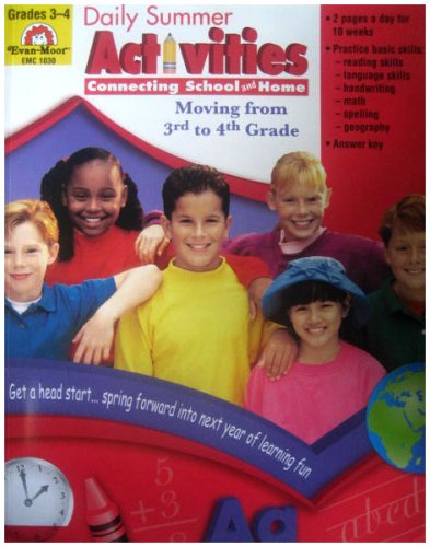 Daily Summer Activities Moving From Third To Fourth Grade