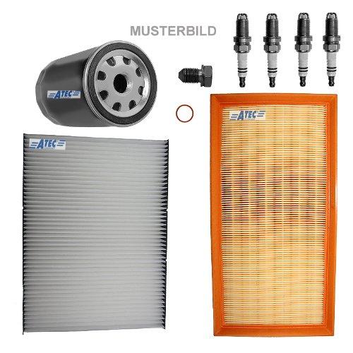 Inspektionspaket SET C 1x Ölfilter 1x Luftfilter 1x Innenraumfilter 4x Zündkerze BOSCH Super Plus FR7DC+