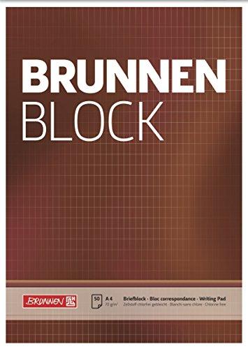 Brunnen 1052729 Briefblock / Schreibblock / Der Brunnen Block (A4, rautiert, 50 Blatt, 70 g/m²)