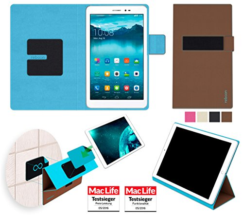 reboon Hülle für Huawei MediaPad T1 8.0 Tasche Cover Case Bumper | in Braun | Testsieger
