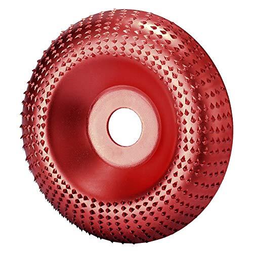 アングルグラインダー 100mmウッドアングルグラインダーサンディングカービングロータリーツールアングルグラインダーサンディングカービングツール用研磨ディスク 木工カッターツール (Color : Wine red)