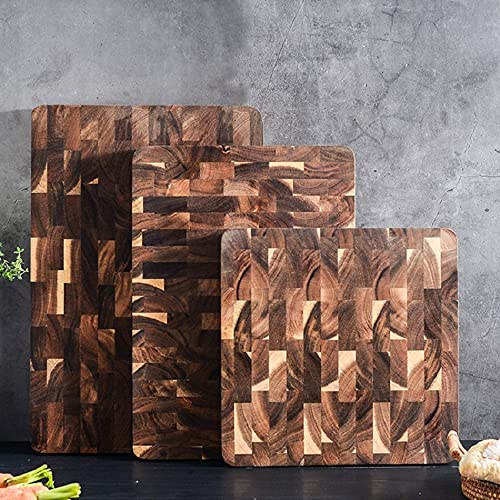 Large Rectangle Multipurpose Thick Wood Cutting Board with Juice Groove End-Grain Chopping Kitchen Board-280x280x28mm