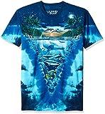 Liquid Blue unisex adult Night Time Dive T-shirt T Shirt, Tie Dye/Multi, Medium US