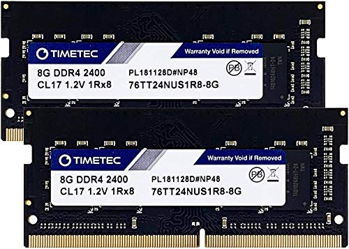 Timetec Hynix IC DDR4 2400MHz PC4-19200 Unbuffered Non-ECC 1.2V CL16 1Rx8 Single Rank 260 Pin SODIMM Laptop Notebook Computer Memory RAM Module Upgrade16GB (2x 8GB)