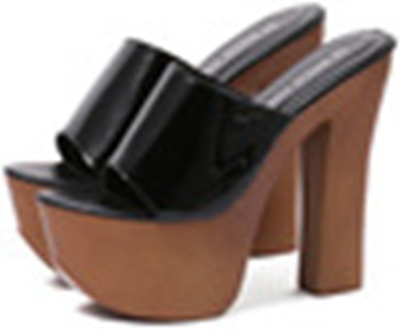 Genepeg Womens Sandals Platforms shoes 14cm High Heel Platform Clogs Summer Slippers