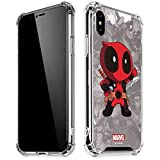 Skinit Clear Phone Case for iPhone X/XS - Officially Licensed Marvel/Disney Deadpool Hello Design