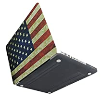 [MS factory/RMC series] MacBook Pro 13インチ 専用 (Late 2013 対応) マット加工 ハード ケース 《デザイン カバー》 ヴィンテージ 国旗柄 星条旗 RMC-DGNP13USA