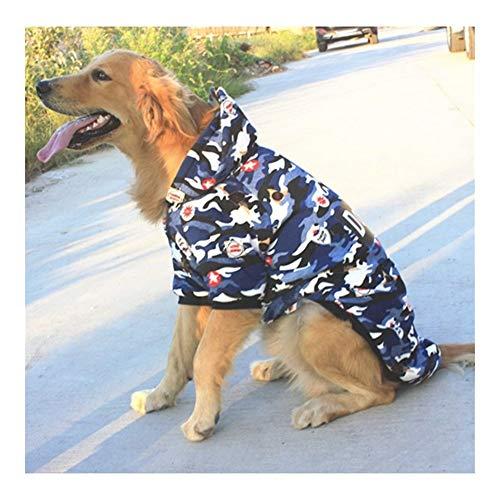 QHKS 3XL 4XL 5XL 6XL 7XL 8XL 9XL ropa de perro grande disfraz de mascota mediano y grande con capucha para perro labrador abrigo abrigo deportivo (color: como se muestra, tamao: 9XL)