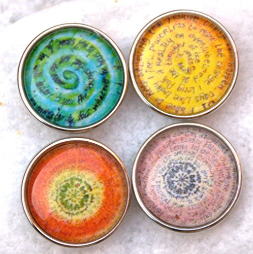 Caligrama Collection Druckknopf Clicks Charm Chunk Klicks Snap Button Leder Chunks Noosa kompatibel, Click Button Der Preis ist für eine Chunk