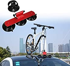 Partol Sucker Bike Rack for Car Roof Suction Cup Bicycle Carrier Quick Release Aluminium Alloy Roof-Top Roof Rack Fit for Most Cars